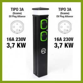 Colonnina Basic Charger T2 (22 kW) + T2 (22 kW)