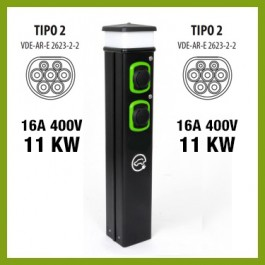 Colonnina Basic Charger T2 (11 kW) + T2 (11 kW)