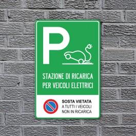 Cartello stradale Parcheggio Auto / Veicoli Elettrici