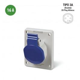 Tipo 3A - Presa fissa (femmina) - 16A/230V