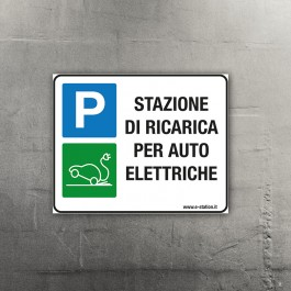 Targa per Stazioni di Ricarica Auto Elettriche