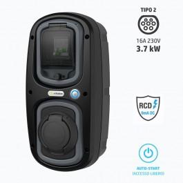 Wall-Box 3,7 kW per ricarica auto elettriche Modo 3