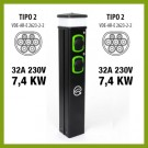 Colonnina Basic Charger T2 (3.7 kW) + T2 (3.7 kW)