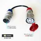 Adattatore per EVR3 max 22 kW --> Presa CEE 32A monofase 3 poli (blu)
