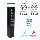 Colonnina Basic Charger T2 (7.4 kW) + T2 (7.4 kW)