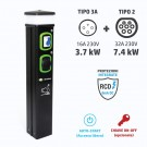 Colonnina Basic Charger T3A (3.7 kW) + T2 (7.4 kW)
