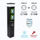 Colonnina Basic Charger T3A (3.7 kW) + T3A (3.7 kW)