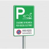 Cartello stradale Parcheggio Auto/Veicoli Elettrici