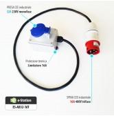 Adattatore per EVR1 max 7,4 kW --> Presa CEE 16A trifase 5 poli (rossa)