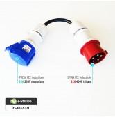 Adattatore per EVR1 max 7,4 kW --> Presa CEE 32A trifase 5 poli (rossa)