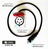 Adattatore per EVR3 max 22 kW --> Presa Schuko domestica 10A