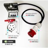 Adattatore per EVR3 max 22 kW --> Presa CEE 16A trifase 5 poli (rossa)